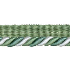 Cordone con fettuccia bianco  verde Ø 8 mm