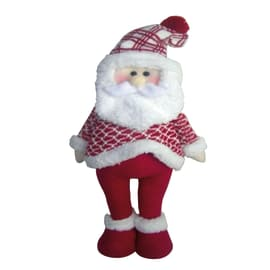 Babbo natale decorativo bianco e rosso 58,4cm