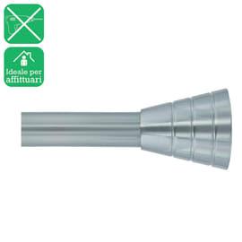 Bastone per tenda con finali estensibile cromo Ø 25 mm L 200 - 330 cm
