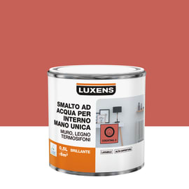 Smalto manounica Luxens all'acqua Arancio Coktail 2 brillante 0.5 L