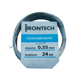 Filo in ferro zincato Ø 0,5 mm x 24 m