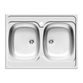 Lavello appoggio Dioniso L 80 x P  60 cm 2 vasche