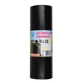 Sacco rifiuti Condominiale 110 x 70 cm nero 30 pezzi
