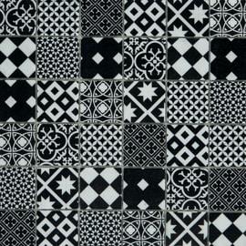 Mosaico Cementina 30 x 30 cm bianco, nero