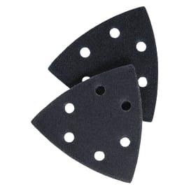 5 fogli abrasivi con velcro, grana 80, 180, 280