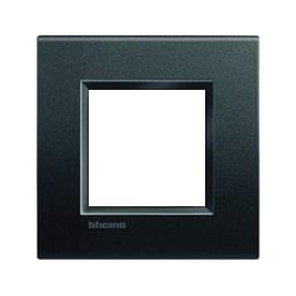 Placca 2 moduli BTicino Livinglight antracite