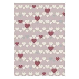 Tappeto Heart kids rosa, rosso 115 x 170 cm