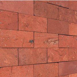 Mosaico Rettangolo cotto naturale 27 x 27 cm rosso
