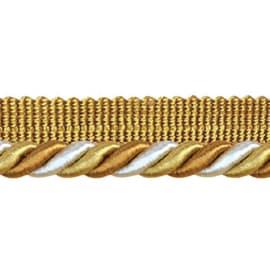 Cordone con fettuccia bianco  oro Ø 8 mm