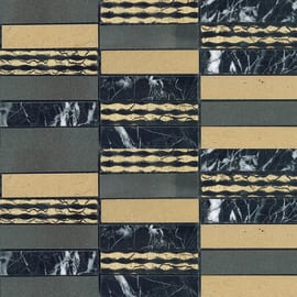 Mosaico Ardesia 30 x 30 cm nero, oro