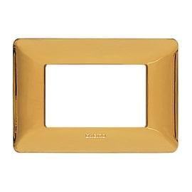 Placca 3 moduli BTicino Matix oro lucido