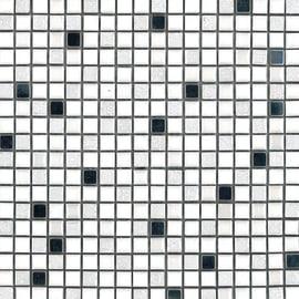 Mosaico Metal 30 x 30 cm bianco, argento