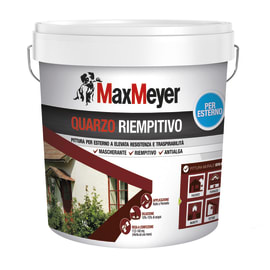 Pittura al quarzo per esterno antialga ad alto riempiento Max Meyer bianco 14 L