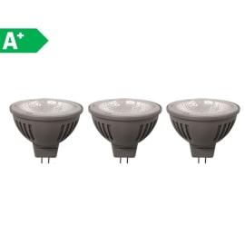 3 lampadine LED Lexman GU5.3 =35W luce naturale 100°