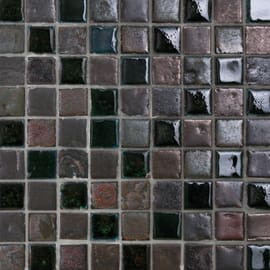 Mosaico Emerald bronze 31 x 31 cm verde, marrone