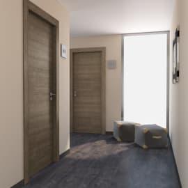 Porta per hotel battente Radisson tabacco 80 x H 210 cm dx