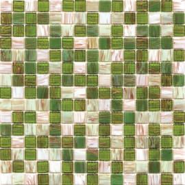Mosaico Mix gold 32,7 x 32,7 cm verde