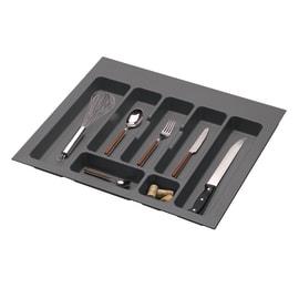 Porta posate e mestoli grigio L 55,1 x P 49 x H 4,5 cm