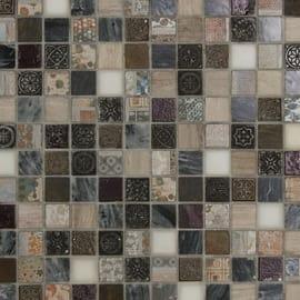Mosaico Greyin 30 x 30 cm bianco, grigio, marrone, beige