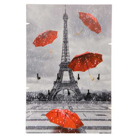 Bacheca porta chiavi Tour Eiffel 7 posti Fantasia 20 x 30 x 1 cm