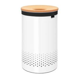 Portabiancheria Laundry Bin coperchio plastica bianco 60 L