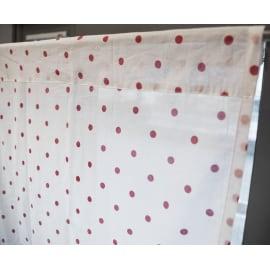 Coppia tendine a vetro per portafinestra Pilma rosso 60 x 240 cm
