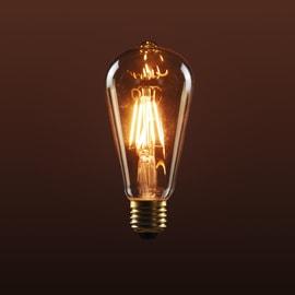 Lampadina decorativa Filamento E27 =35W goccia 320°