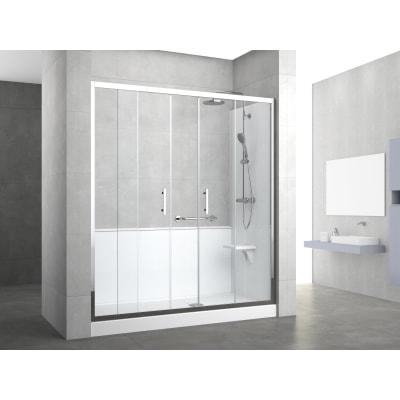 Doccia evolution nicchia trasparente 170 x 70 cm prezzi e for Cabine doccia multifunzione leroy merlin