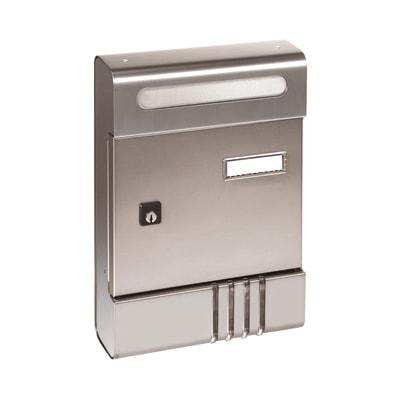 Cassetta postale componibile se argento formato rivista for Numeri adesivi leroy merlin