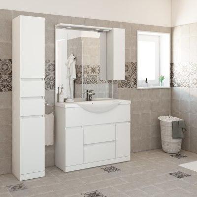 Mobile bagno elise bianco l 100 cm prezzi e offerte online for Arredo bagno immagini e prezzi