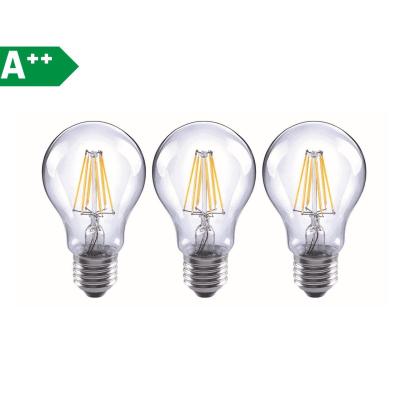 3 lampadine led lexman filamento e27 60w goccia luce
