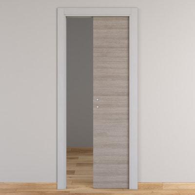 Porta da interno scorrevole One grigio/white 60 x H 210 cm ...