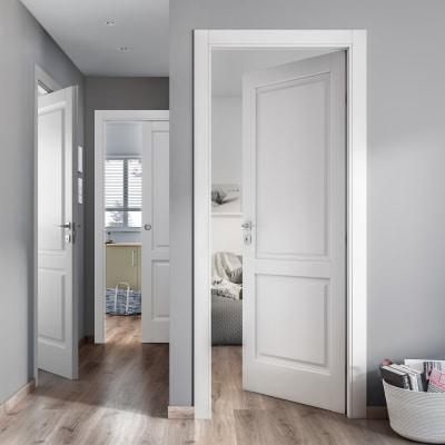 Porta da interno battente dubhe bianco 80 x h 210 cm dx for Porte da interno leroy merlin