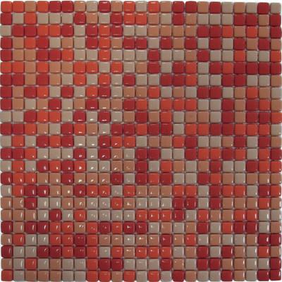 Mosaico corallo 30 x 30 cm arancione rosso prezzi e - Bagno mosaico rosso ...