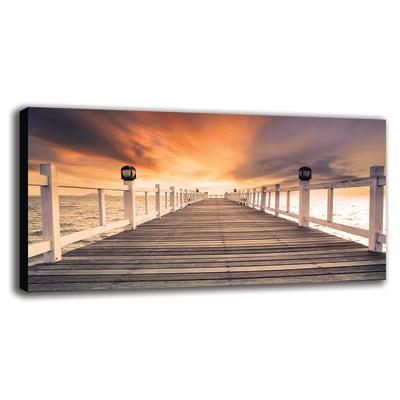 Quadro su tela pontile sul mare 60x120 prezzi e offerte for Quadri moderni leroy merlin