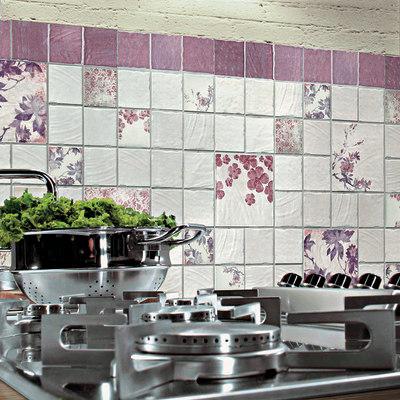 Piastrella cotto vogue 20 x 20 cm viola prezzi e offerte online leroy merlin - Mattonelle cucina leroy merlin ...