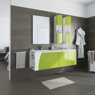 Mobile bagno soft verde acido l 152 5 cm prezzi e offerte online leroy merlin - Tappeti moderni verde acido ...