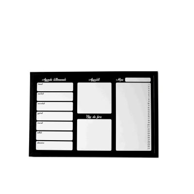 Lavagna Magnetica Planner Nero 60 X 40 Cm Prezzi E Offerte Online