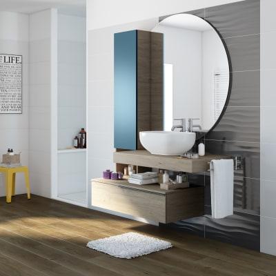 Mobile bagno eklettica olmo l 135 cm prezzi e offerte online leroy merlin - Mobili bagno sospesi leroy merlin ...