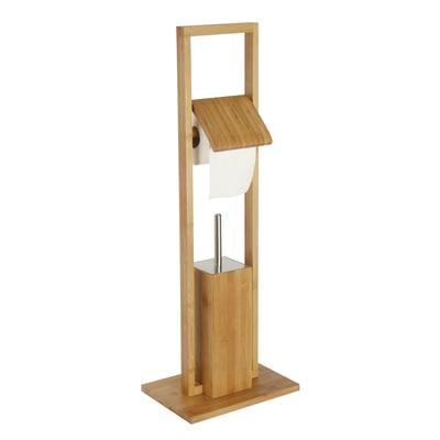 Piantana porta rotolo e scopino aneko legno chiaro prezzi for Porta scopino leroy merlin