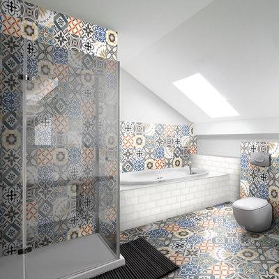 Piastrella art deco 20 x 20 cm multicolor prezzi e offerte online leroy merlin for Prezzi mattonelle bagno