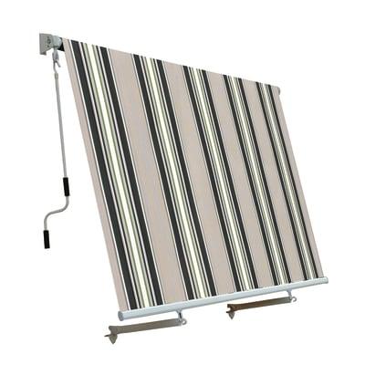 Tenda Da Sole A Caduta Con Bracci 245 X 245 Cm Verde Beige Prezzi E