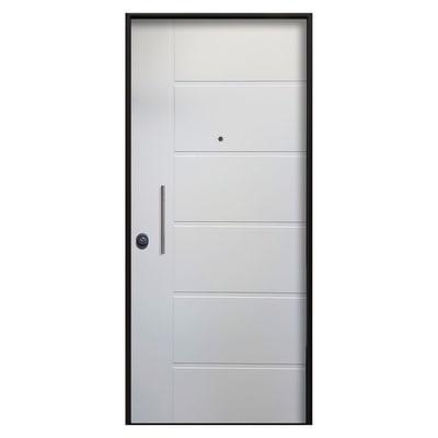 Porta blindata sweet bianco l 85 x h 210 cm sx prezzi e for Porte leroy merlin blindate