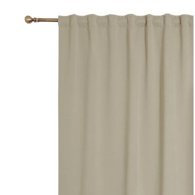 Tenda oscurante fettuccia e passanti nascosti beige 140 x 280 cm prezzi e offerte online leroy - Oscurare vetro porta ...