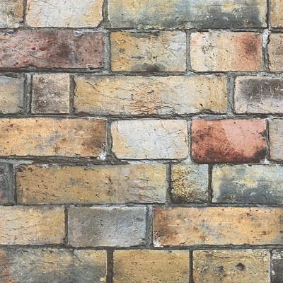 Carta da parati mattone industrial multicolor 10 m prezzi for Carta da parati industrial