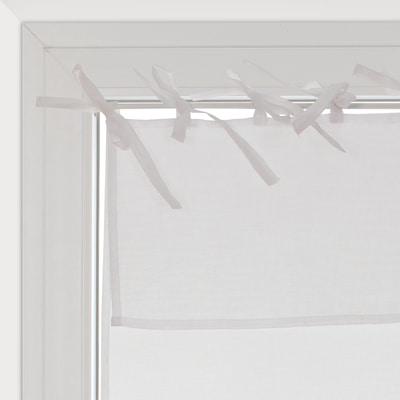 Tendina a vetro per finestra nouettes bianco 45 x 120 cm for Tende a pacchetto a vetro leroy merlin