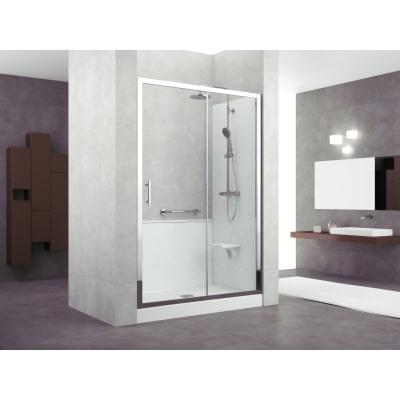 Doccia evolution nicchia trasparente 140 x 70 cm prezzi e for Cabine doccia prezzi leroy merlin
