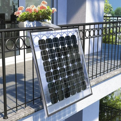 Impianto fotovoltaico da balcone fai da te 160 watt nero 0 for Impianto irrigazione terrazzo leroy merlin