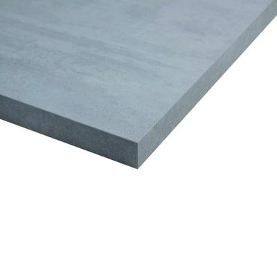 Piano cucina su misura laminato beton grigio 2 cm prezzi e offerte online leroy merlin - Piano cucina laminato ...