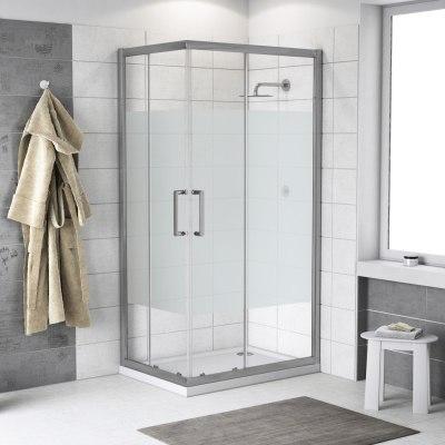 Box doccia scorrevole quad 67 5 69 x 87 5 89 h 190 cm for Cabine doccia multifunzione leroy merlin